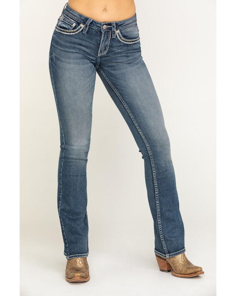Shyanne Women's Medium Basic Bootcut Jeans, Blue, hi-res