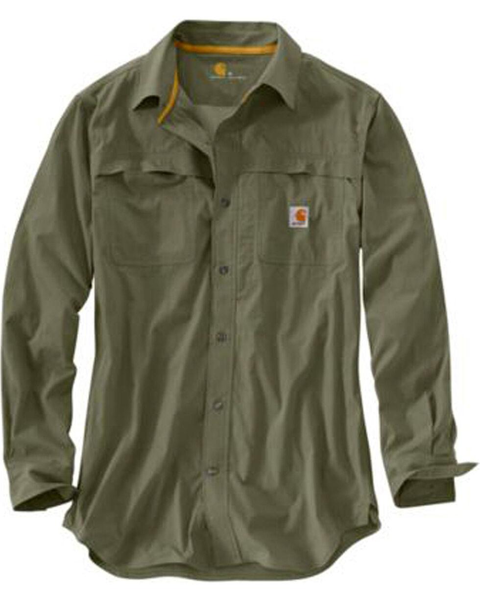 Carhartt Force Mandan Solid Long Sleeve Work Shirt - Big & Tall, Moss, hi-res