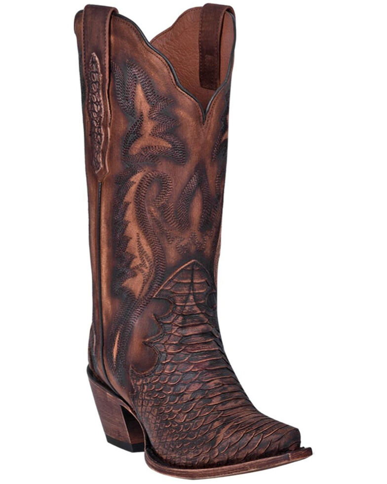Dan Post Women's Lauryn Western Boots - Snip Toe, Brown, hi-res