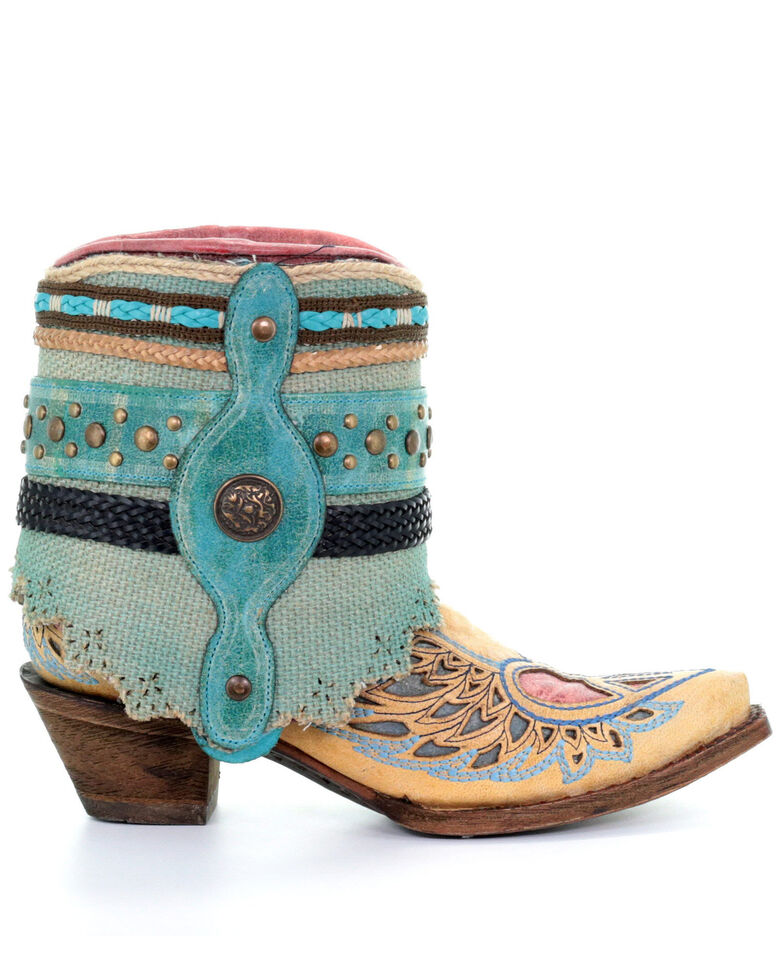 Corral Women's Sand Flipped Shaft Fashion Booties - Snip Toe, Sand, hi-res