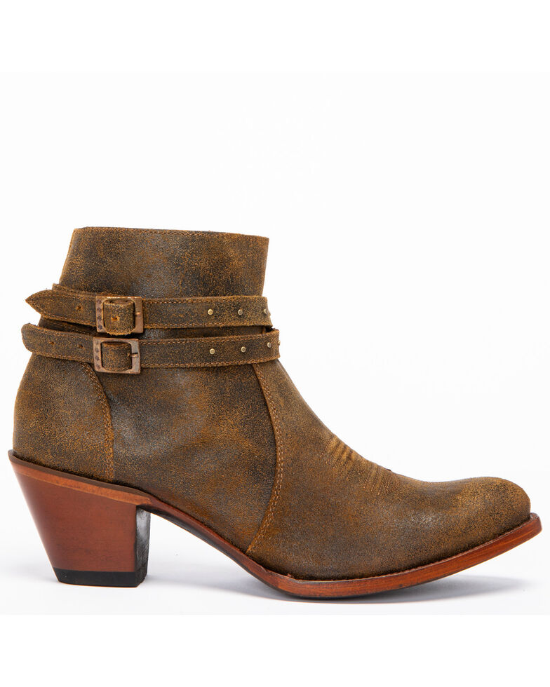Shyanne Women's Collins Tan Booties - Medium Toe, , hi-res