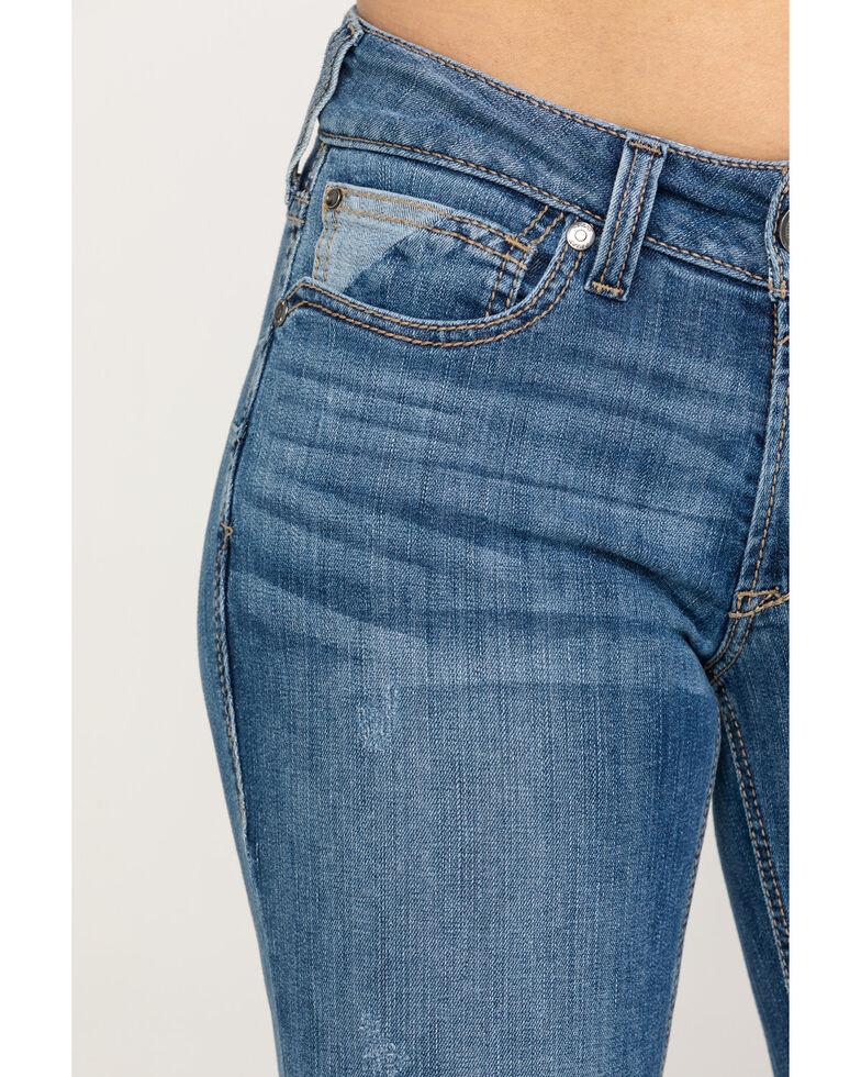 Ariat Women's Indigo Aztec Bootcut Jeans, Blue, hi-res