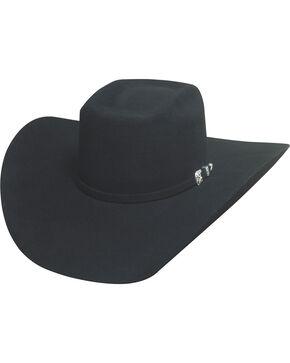 Bullhide Men's Double Kicker 8X Fur Blend Hat, Black, hi-res