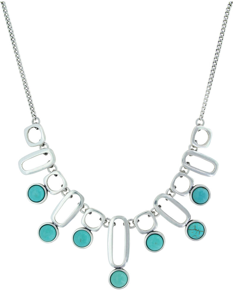 Montana Silversmiths Women's Early Mark Book Chain Necklace , Silver, hi-res