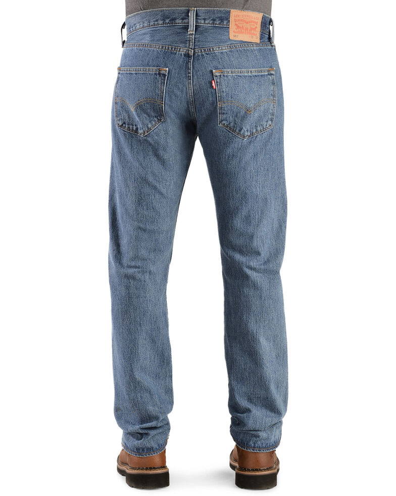 Levi's Men's 501 Original Prewashed Regular Straight Leg Jeans , Stonewash, hi-res