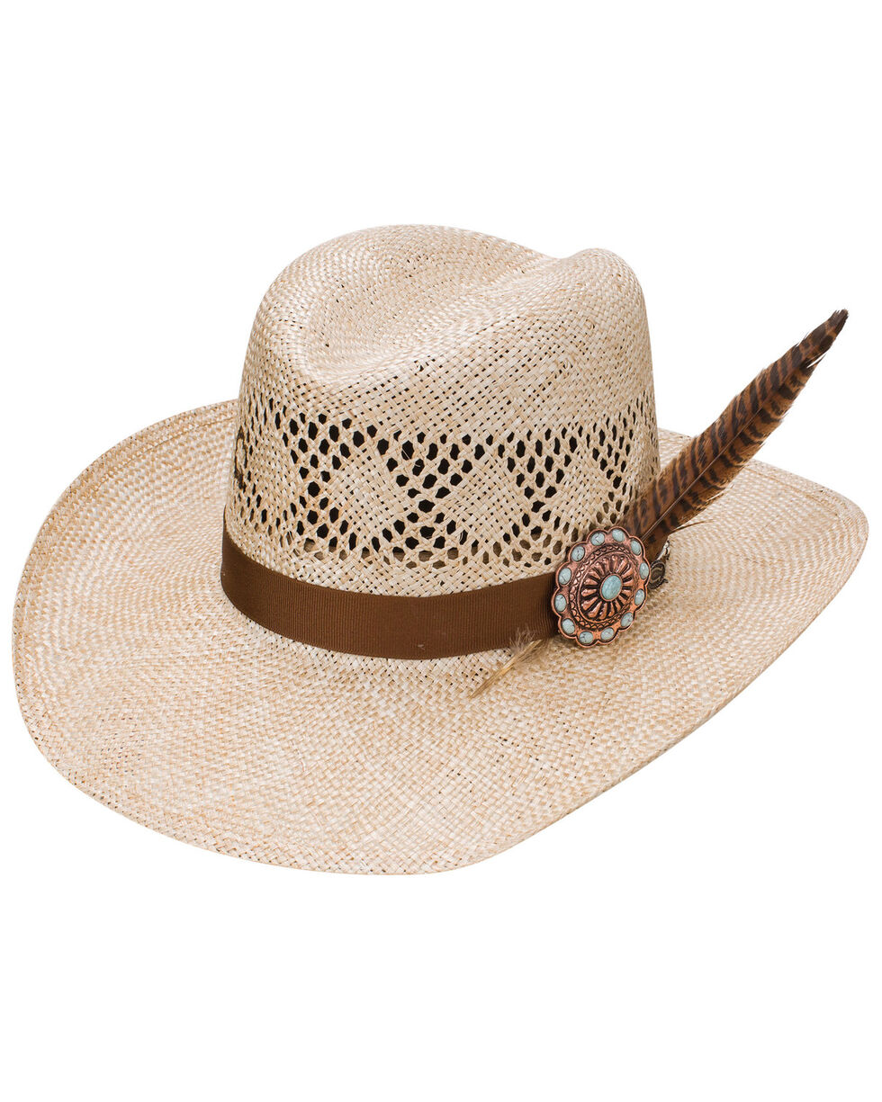 Resistol Women's Stud Finder N Feather Western Hat, Natural, hi-res