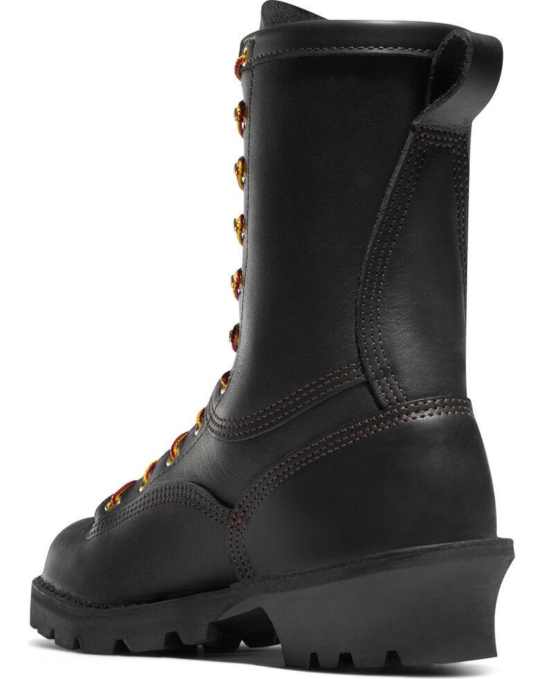 "Danner Men's 10"" Flashpoint II Vibram Fire Logger Outsole Work Boots - Round Toe, Black, hi-res"