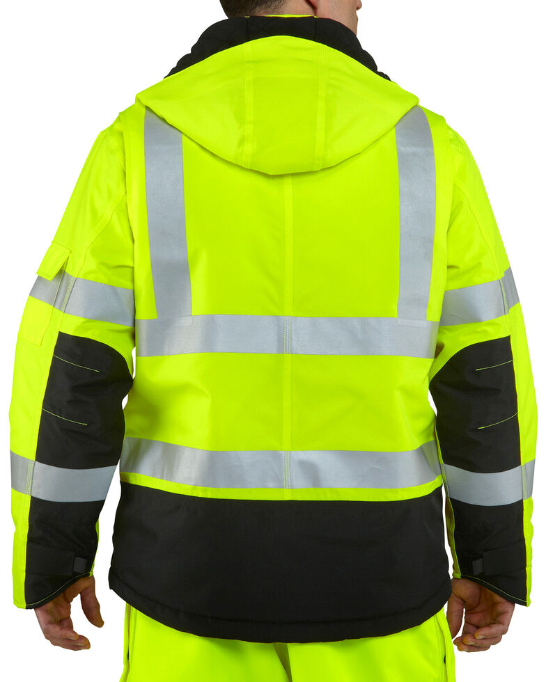 Carhartt Men's High Visibility Water Repellent Sherwood Work Jacket, Lime, hi-res