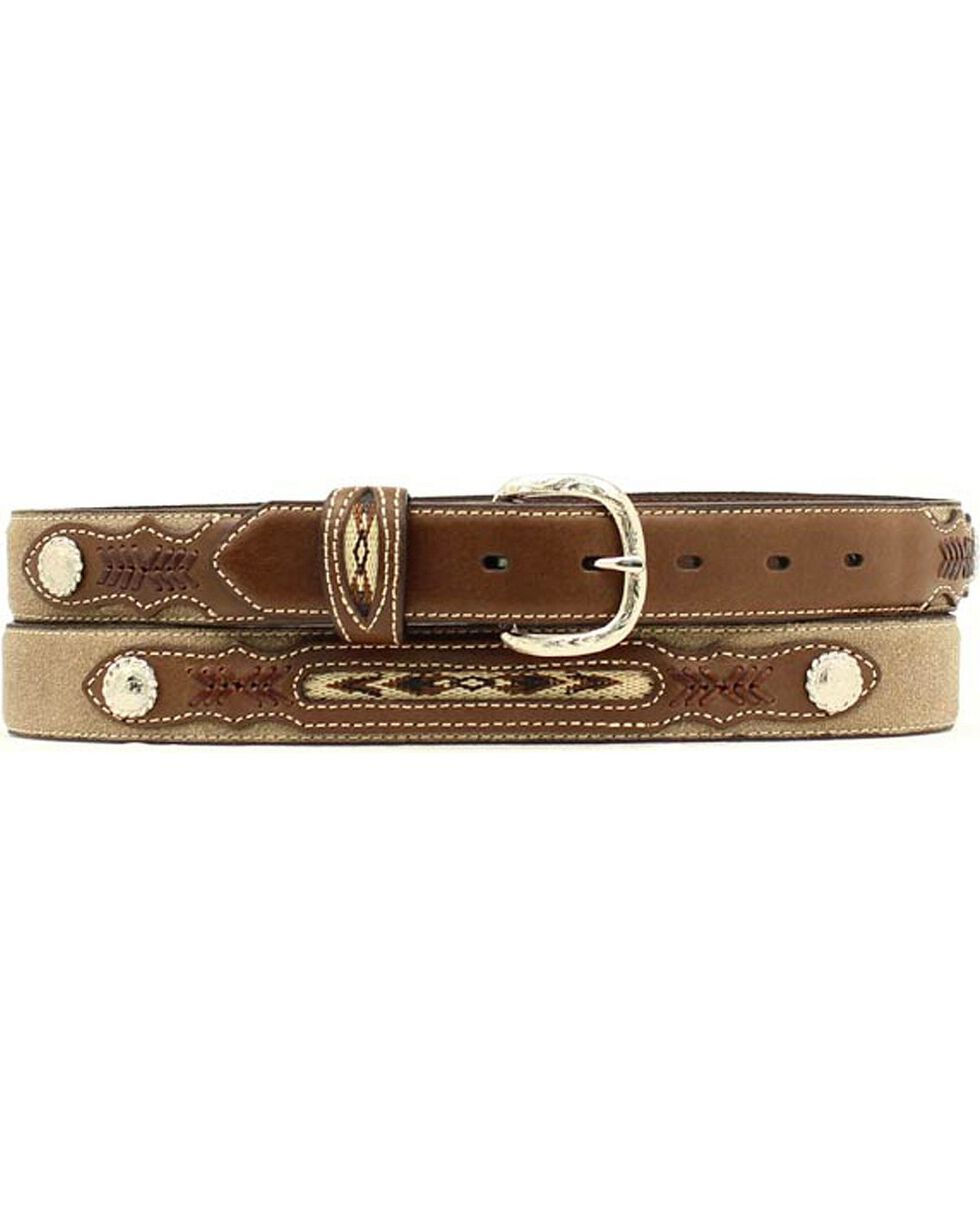 Nocona Kids' Fancy Concho Western Belt, Brown, hi-res