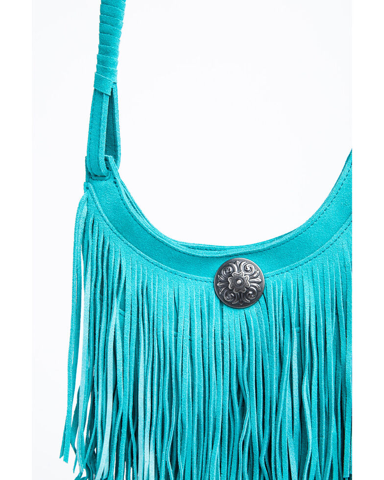 Idyllwind Women's Swing My Way Turquoise Fringe Bag, Turquoise, hi-res