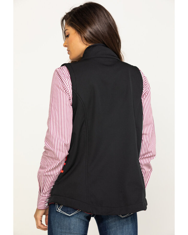 Cinch Women's Solid Concealed Carry Bonded Vest, Black, hi-res