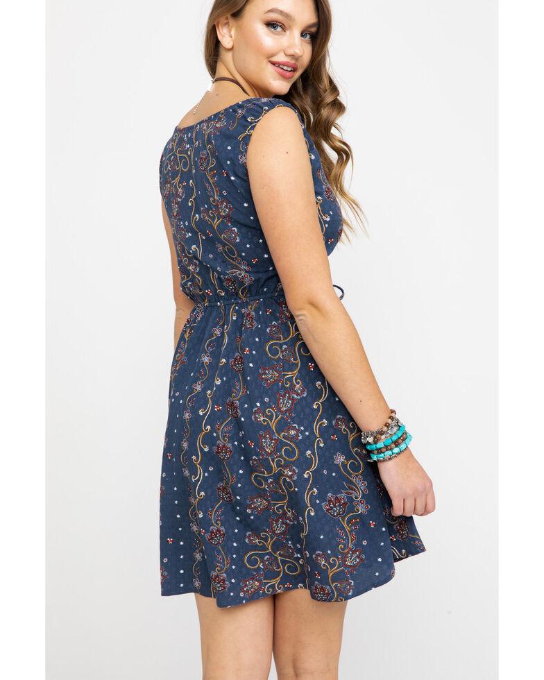 Idyllwind Women's Downtown Western Corset Dress , Navy, hi-res