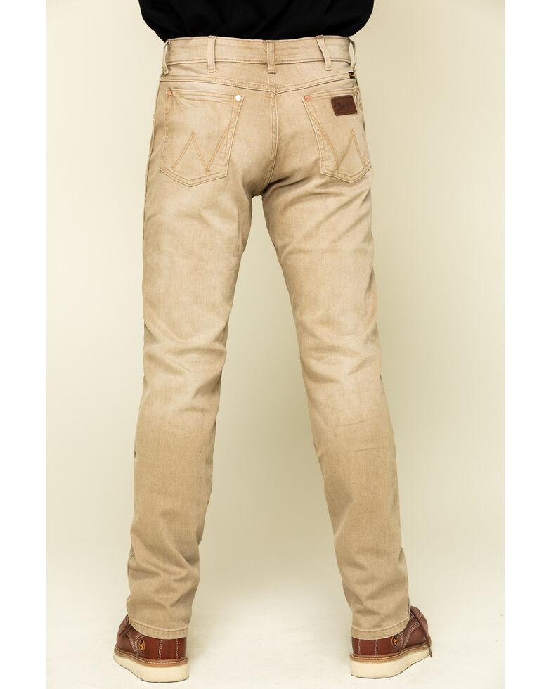 Wrangler Retro Men's Tan Stretch Slim Straight Jeans , , hi-res