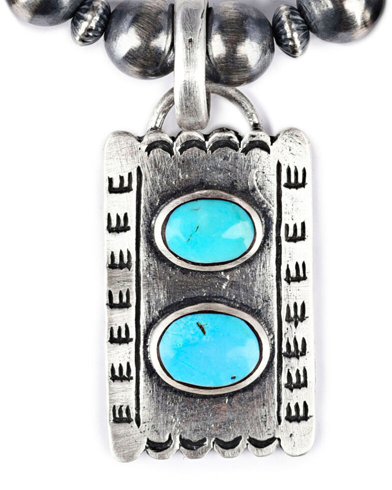Double D Ranch Women's Change of Direction Necklace, Turquoise, hi-res