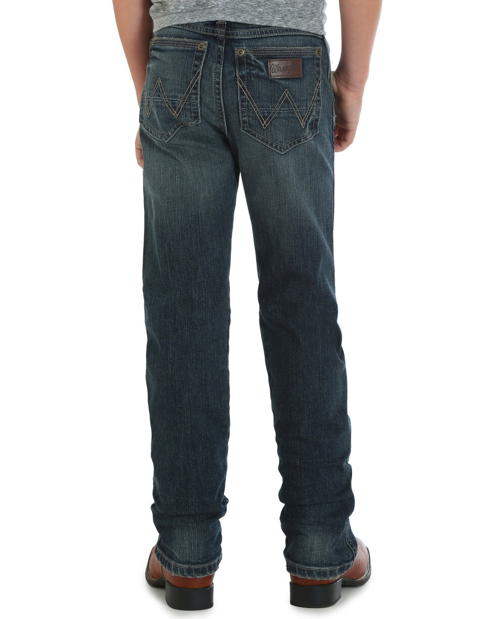 Wrangler Boys' (8-16) RETRO Slim Fit Jeans - Straight Leg , Indigo, hi-res