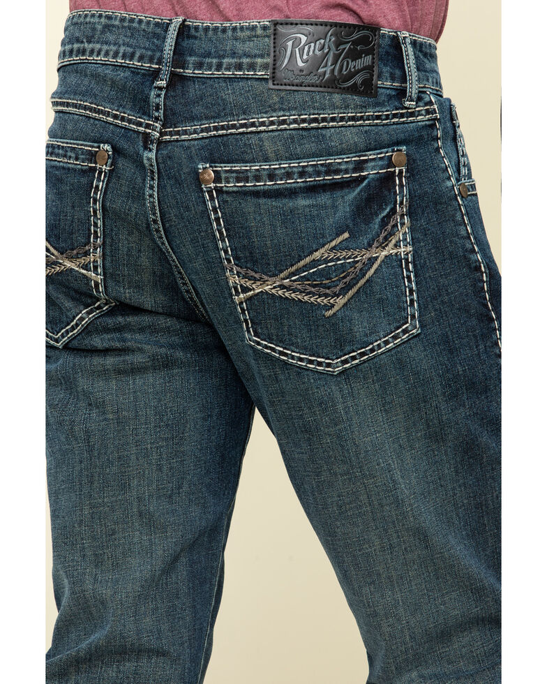 Rock 47 By Wrangler Soundtrack Stretch Slim Bootcut Jeans , Blue, hi-res