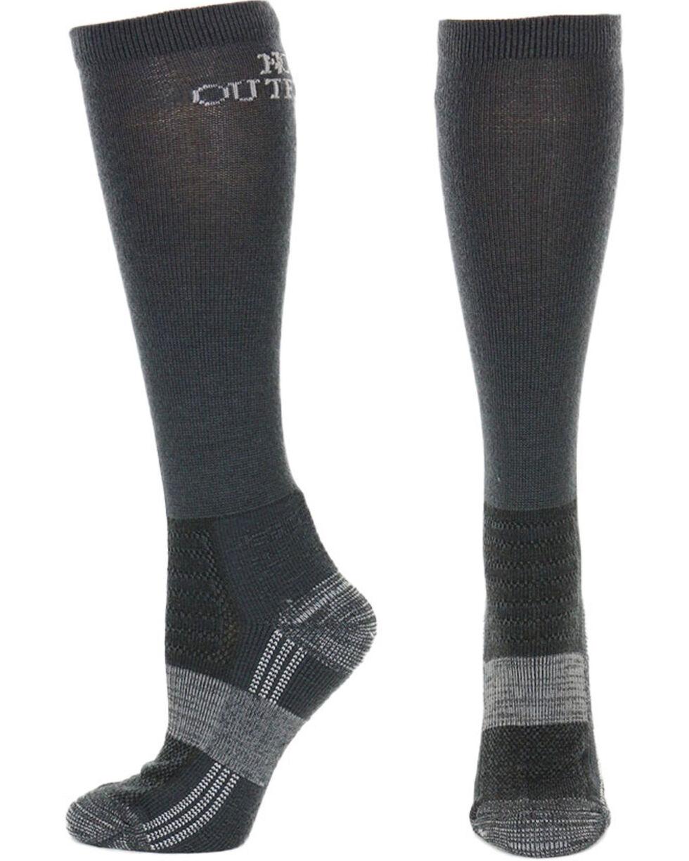Noble Outfitters Men's Alpine Merino Wool Boot Socks, Grey, hi-res