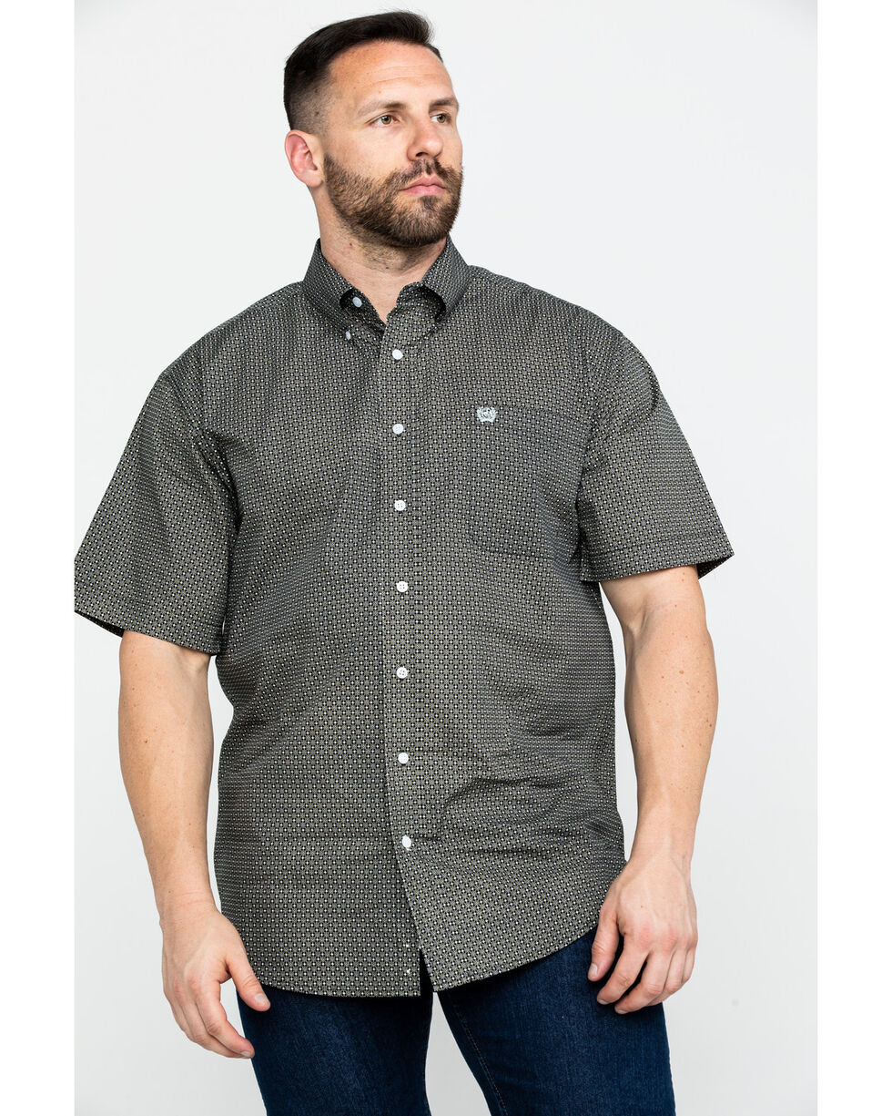 Cinch Men's Multi Geo Print Short Sleeve Western Shirt , Multi, hi-res