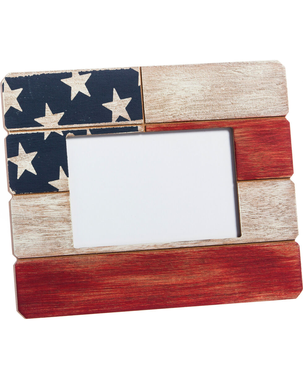 Evergreen American Flag Wooden Picture Frame , Red/white/blue, hi-res