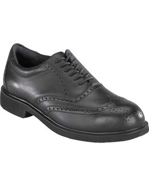 Rockport Works Dressports Oxford Work Shoes - Steel Toe, Black, hi-res