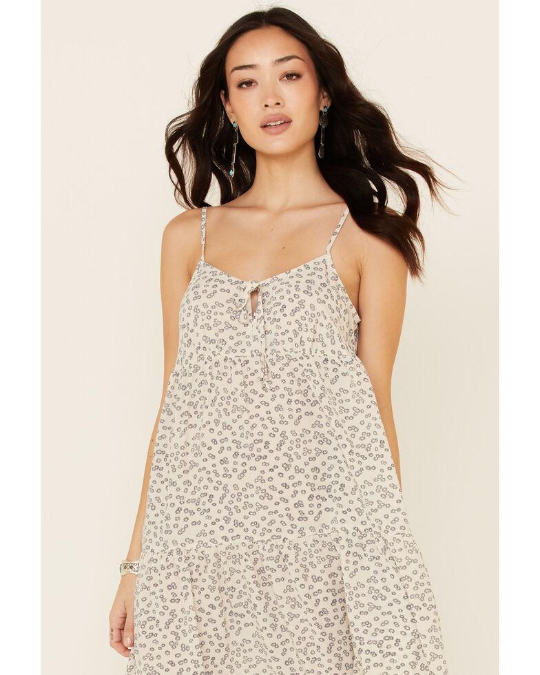 Wishlist Women's Floral Tiered Midi Dress, Ivory, hi-res