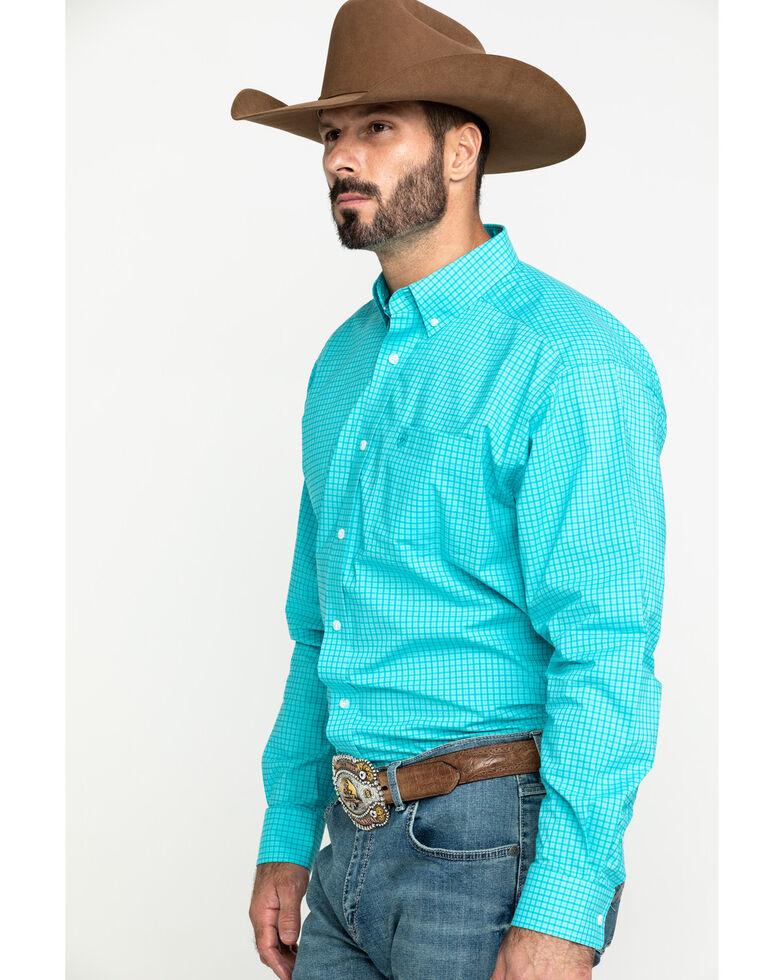 Ariat Men's Kernersville Plaid Long Sleeve Western Shirt - Tall , Blue, hi-res