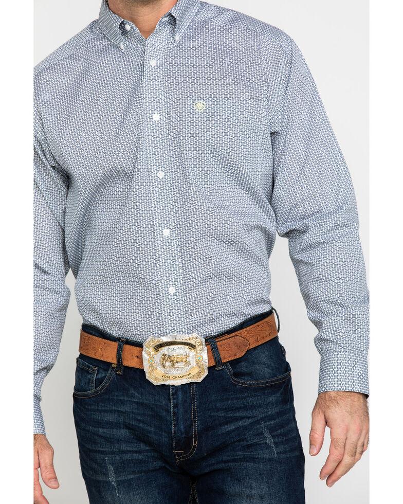 Ariat Men's Wrinkle Free Memphis Small Geo Print Long Sleeve Western Shirt - Tall , Multi, hi-res