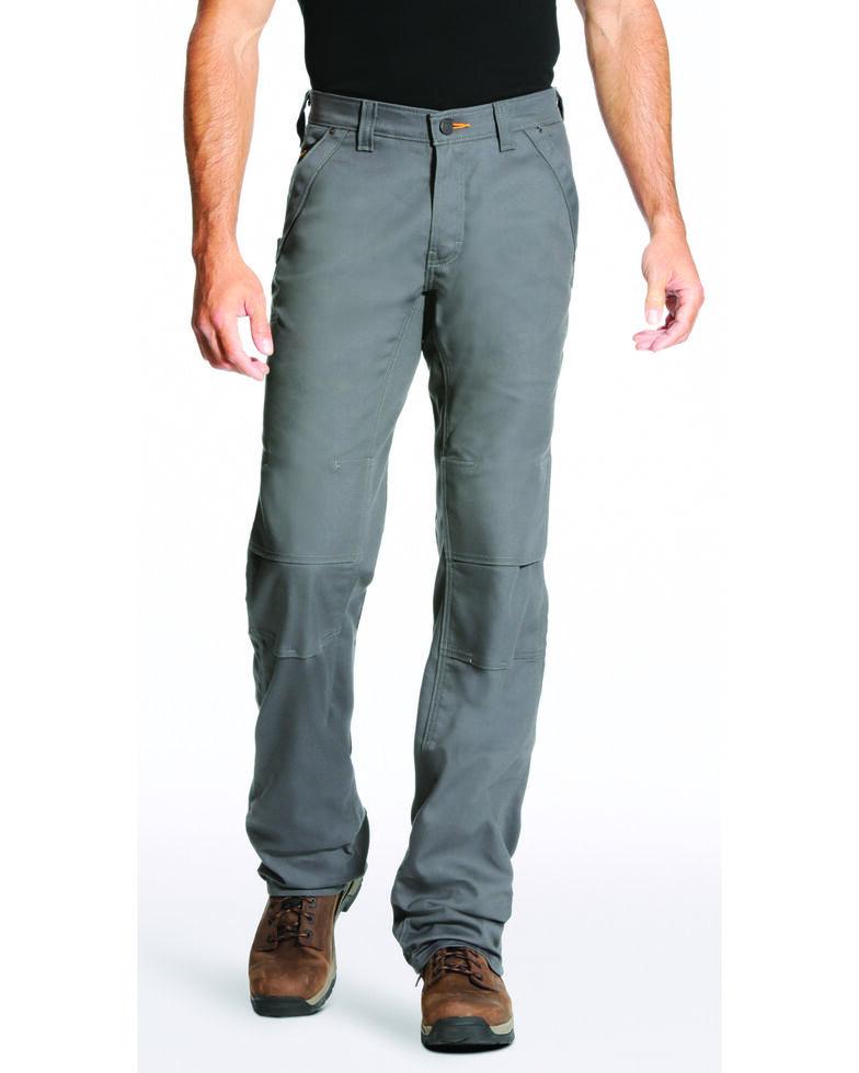 Ariat Men's Rebar M4 Stretch Canvas Utility Pants - Straight Leg , Light Grey, hi-res