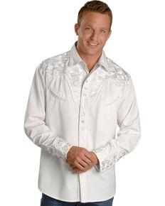 a5da81af Scully White Floral Embroidery Retro Western Shirt - Big & Tall