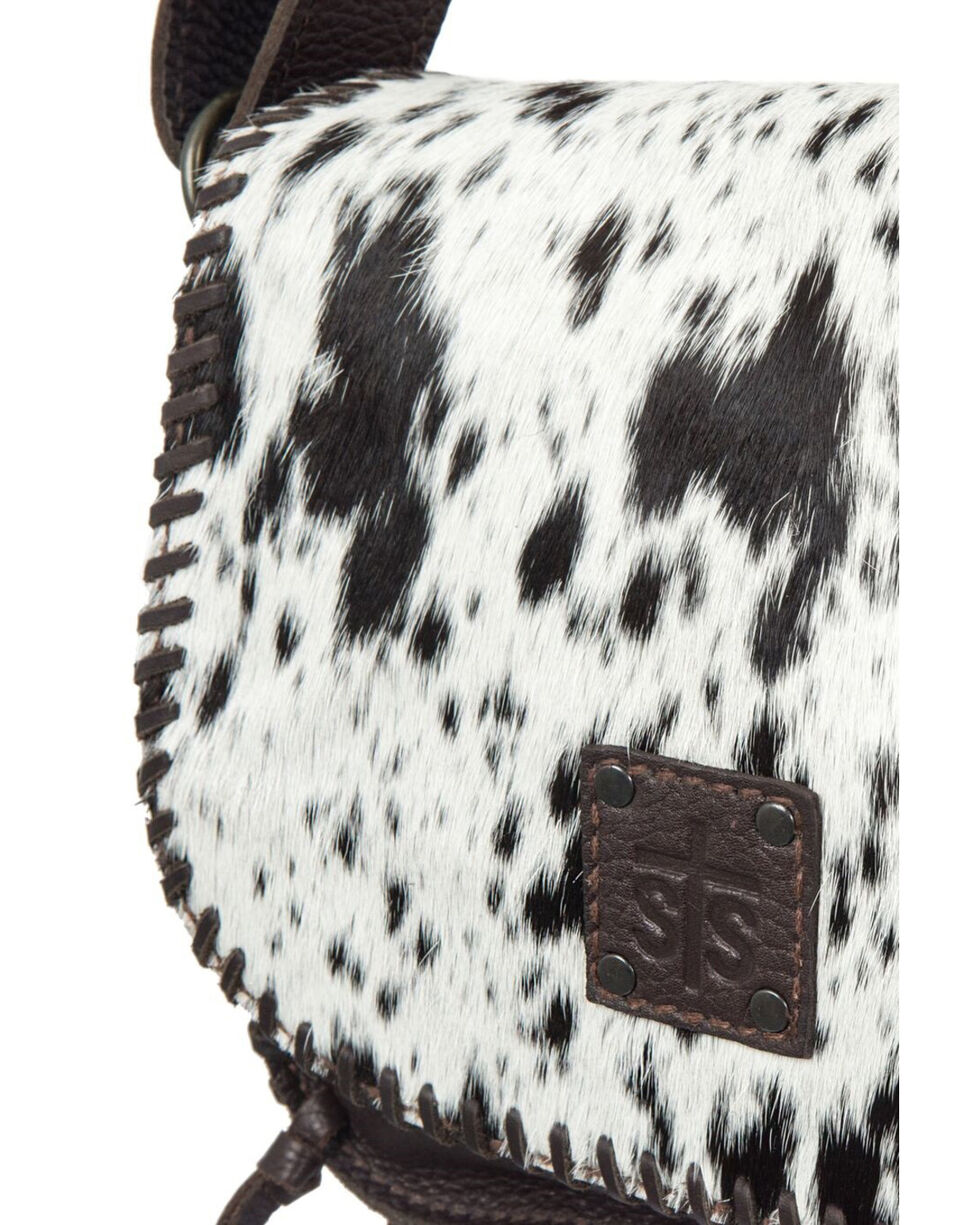 STS Ranchware Cowhide Selahs Saddle Bag, Chocolate, hi-res