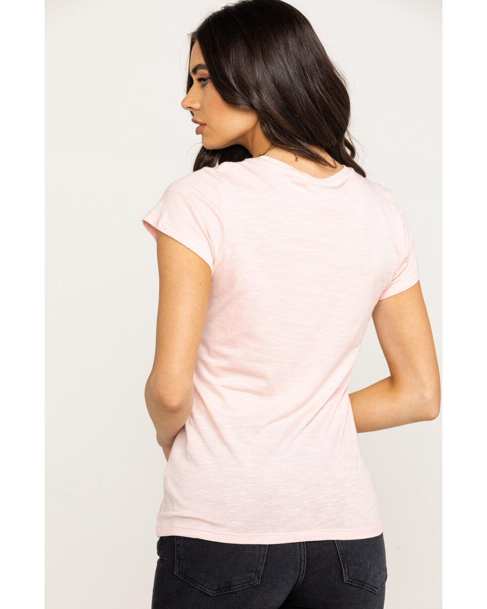 Ariat Women's Blossom Long Horn Graphic Tee , Light Pink, hi-res