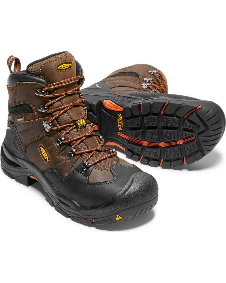 "Keen Men's Brown Utility Coburg Waterproof 6"" Boots - Steel Toe , Brown, hi-res"