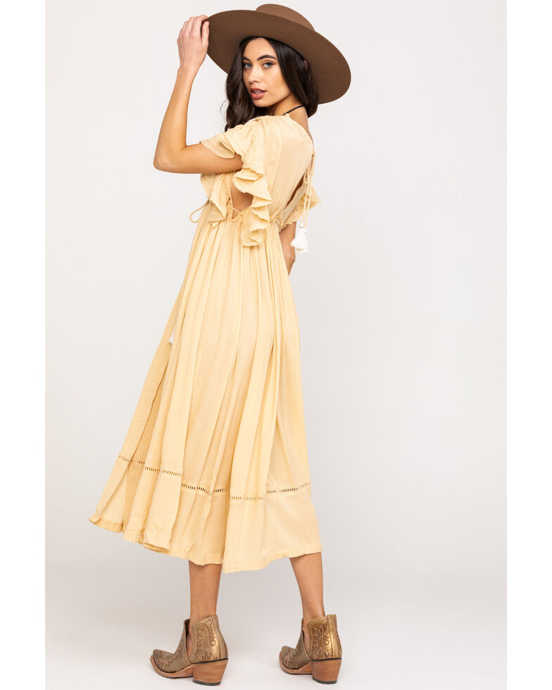 Free People Women's Will Wait For You Midi Dress, Natural, hi-res