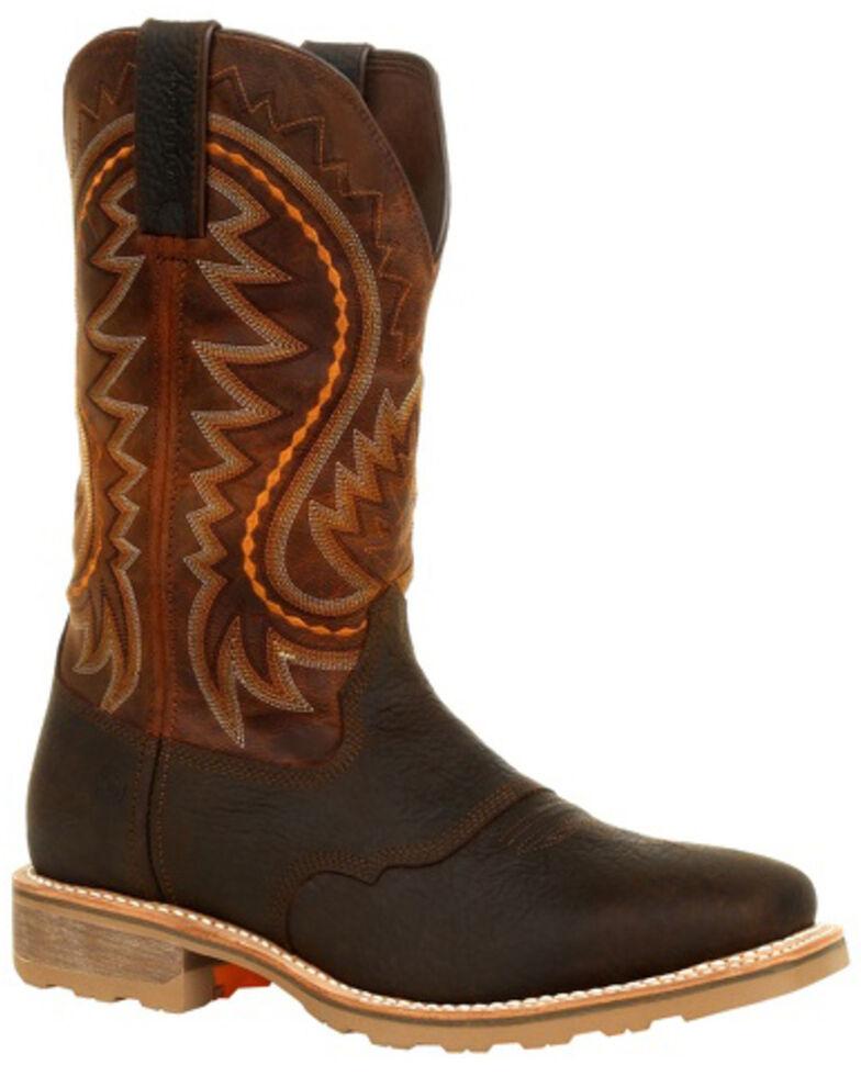 Durango Men's Maverick Pro Western Work Boots - Soft Toe, Brown, hi-res