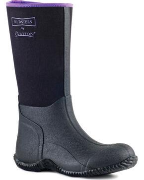 Ovation Women's Mudster Tall Barn Boots, Black, hi-res