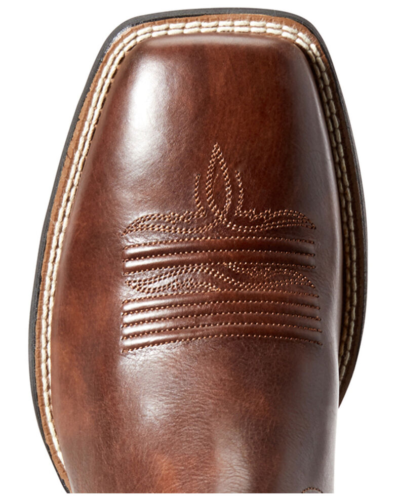 Ariat Men's Amos Hand Stained Western Boots - Square Toe, Brown, hi-res