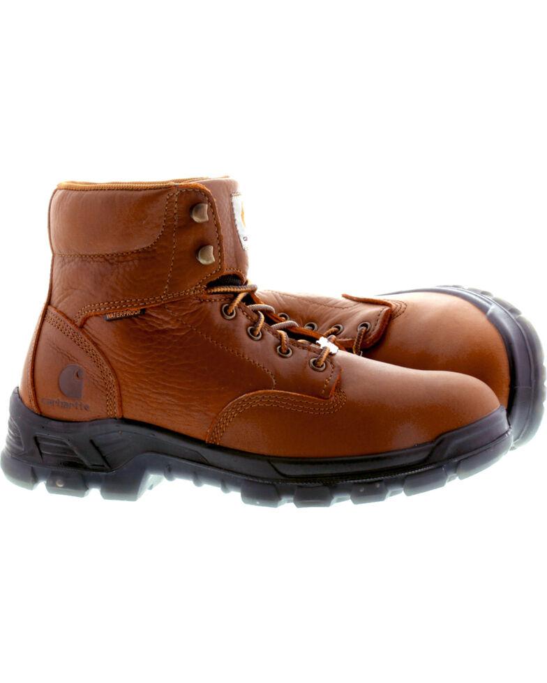 "Carhartt Men's 6"" Brown Waterproof Work Boots - Round Toe, Brown, hi-res"