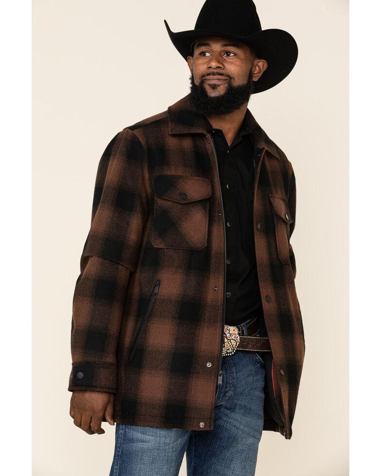 Pendleton Men's Brown Longmont Hombre Large Plaid Shirt Jacket , Bronze, hi-res
