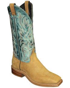 Abilene Women's Two-Toned Western Boots - Square Toe, Tan, hi-res