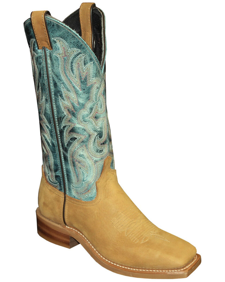 Abilene Women's Two-Toned Western Boots - Square Toe, Tan, hi-res