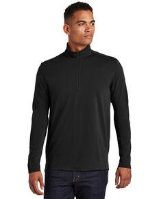 Ogio Nexus Men's Black Limit 1/4 Zip Pullover Work Sweatshirt , Black, hi-res