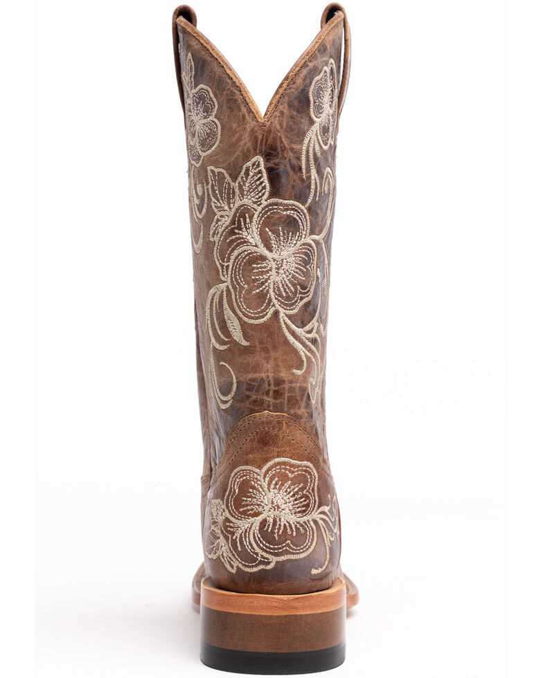 Shyanne Women's Lasy Western Boots - Square Toe, Brown, hi-res