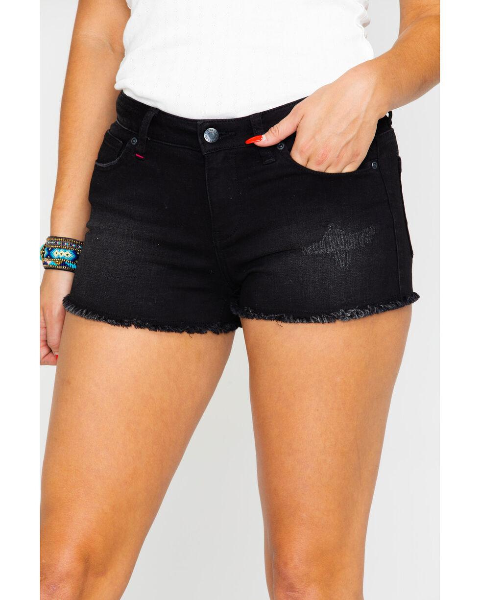 Idyllwind Women's Let's Party Denim Shorts , Black, hi-res