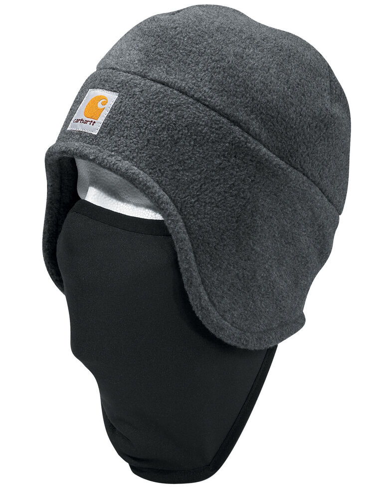 Carhartt Men's 2-in-1 Fleece Headwear, Charcoal Grey, hi-res