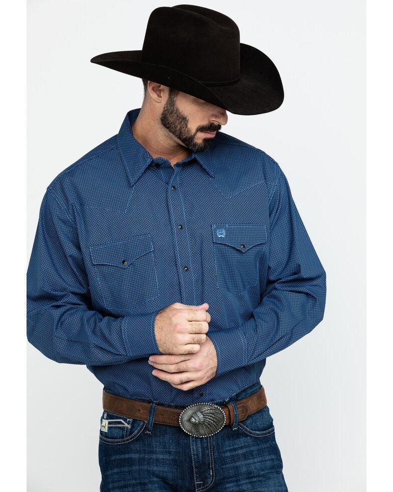 Cinch Men's Black Geo Print Snap Long Sleeve Western Shirt , Black, hi-res