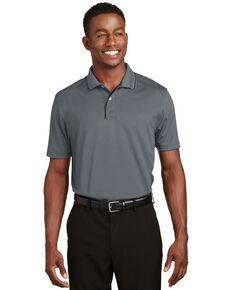 Sport Tek Men's Dri-Mesh Short Sleeve Polo Work Shirt - Big , Black, hi-res