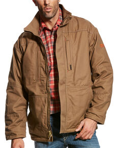 Ariat Men's Beige FR Workhorse Field Jacket , Beige/khaki, hi-res