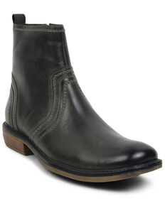 Evolutions Men's Grey Crestone Chelsea Boots - Round Toe, Dark Grey, hi-res