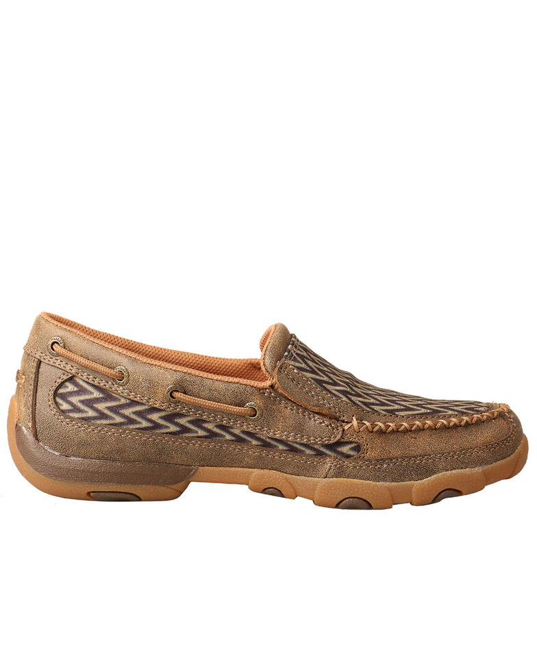 Twisted X Women's Chevron Driving Shoes - Moc Toe, , hi-res