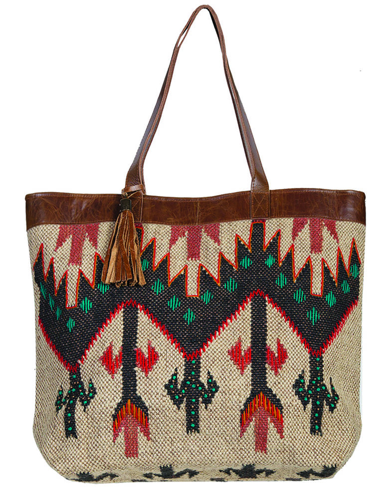 Scully Women's Aztec Woven Handbag, Multi, hi-res
